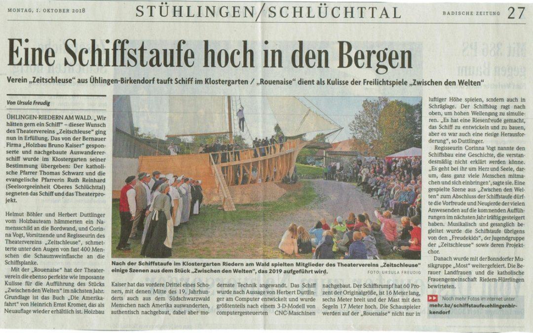 Badische Zeitung 1.10.2018