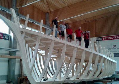 Die Rouenaise wird in den heiligen Hallen von Holzbau Bruno Kaiser gebaut: