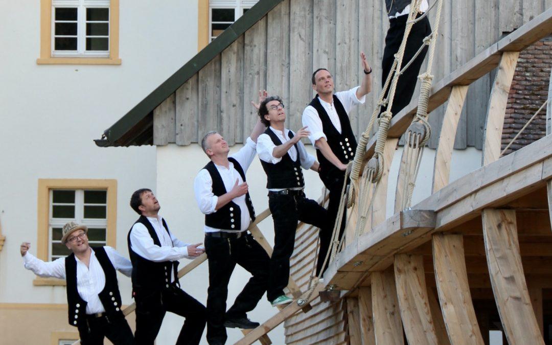 CD-Taufe von LUDDI in der einmaligen Kulisse des Freilichttheaters im Kloster Riedern